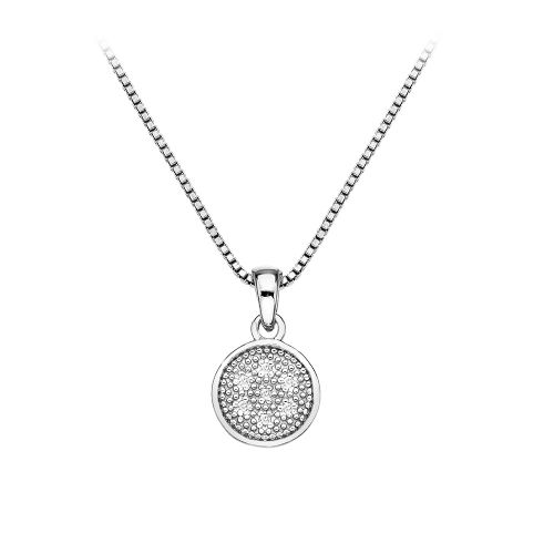 Hot Diamonds Sterling Silver Stargazer Circle necklace DP531